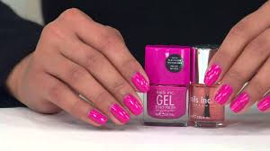 nails inc gel effect bright 4 piece nail polish collection with