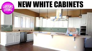 our white kitchen cabinets are installed kitchen remodel