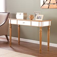 Gold Entry Table Bedroom Furniture Sets Silver Mirrored Console Table Console