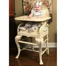oval highchair in distressed ivory and luxury baby cribs in baby