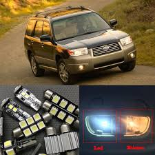 white subaru forester interior 8pcs xenon white car led light bulbs interior package kit for 2003
