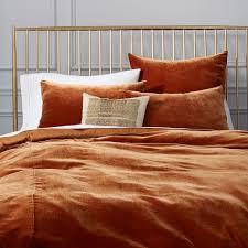 luxe velvet duvet cover shams copper west elm