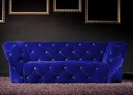 canap bleu roi canapé 3 places velours bleu royal chesterfield lestendances fr