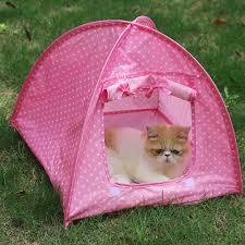 aliexpress com buy lovely dot pets cat tent houses all season