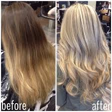 weave hair how in fife deaf got implant cochlear before and after going from ombré back to blonde blonde