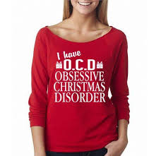Funny Christmas Party - i have ocd obsessive christmas disorder sweater funny christmas