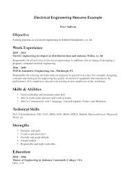 electrical engineering resume for internship electrical engineering resume objective