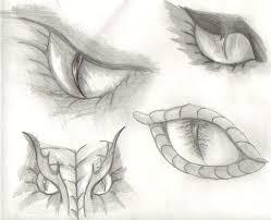 drawn eye dragon pencil and in color drawn eye dragon
