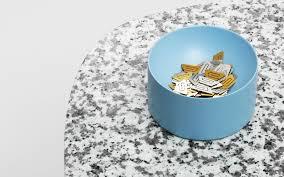 powder blue moon tray circular wooden trays