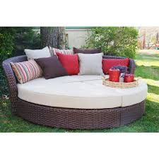 Sunbrella Cushions For Outdoor Furniture Ae Outdoor Montego Bay 4 Piece Wicker Outdoor Day Bed With