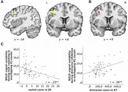 brain signal variability differentially affects cognitive