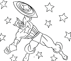 America Coloring Pages God Bless Colouring Page Captain America Captain America Coloring Page