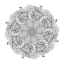 symetric mandala with flowers and leaves by ceramaama difficult