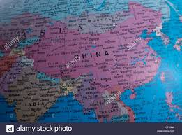Xi An China Map by Close Up Of A Map Of China Stock Photo Royalty Free Image