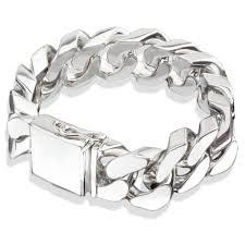 silver bracelet links images Excellent ideas mens sterling silver bracelets heavy cuban link jpg