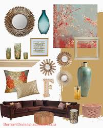 Brown And Blue Home Decor Living Room Style Ideas Home Interior Mood Board Home Decor Tan