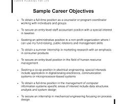 resume exles for career objective career objective resume exles for exle of your