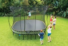 11x11 large springfree trampoline playground king