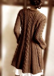 brown sweater knit wool cable sweater coat cable knit sweater many colors