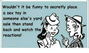 Sex Toy Meme - wouldn t it be funny to secretly place a sex toy in someone else s