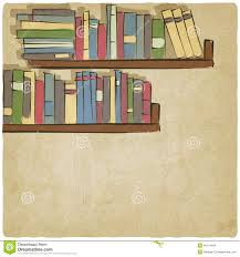 hand drawing bookshelf old background stock vector image 40119484