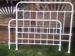 Shabby Chic Metal Bed Frame by Ivory Cream Shabby Chic French Style Orante Double Metal Bed Frame