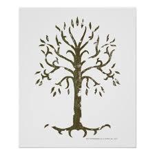 white tree of gondor poster zazzle com