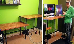 Adjustable Standing Desk Diy Standing Desk New Steel Pipe Standing Desk Steel Pipe Standing