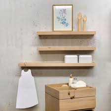 Oak Bookshelves by Wall Mounted Shelving Contemporary Collection