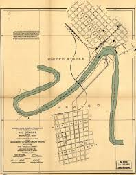 Texas And Mexico Map by Map Of Boundary Between Brownsville Texas And Matamoros Mexico