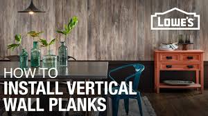How To Lay Laminate Flooring Youtube How To Install Laminate Planks Vertically On A Wall Youtube