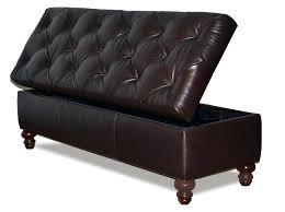 brown leather storage ottoman bench saddle brown leather storage