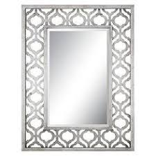 Bathroom Mirrors Target by Scalloped Frameless Mirror Clear Fabrics Frames And Mirror