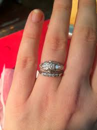 three stone engagement rings what wedding band did you choose