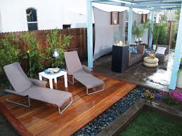 alluring natural outdoor dining and living room design style