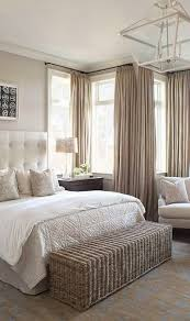 Cream Bedding And Curtains Neutral Calming Master Bedroom Beige Cream Tufted Headboard Bed