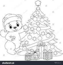 christmas tree coloring page stock vector 738831196 shutterstock