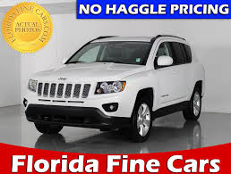 gray jeep compass used 2016 jeep compass latitude 4wd suv for sale in west palm fl