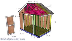 Diy Build A Shed Free Plans by 12x8 Shed Free Diy Plans Howtospecialist How To Build Step