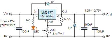 Variable Bench Power Supply With Lcd And Monitor Display Variable Voltage Power Supply Using The Lm317t