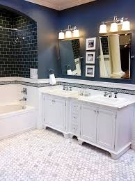 Navy And White Bathroom Ideas - dark blue bathroom wall tiles ideas and pictures