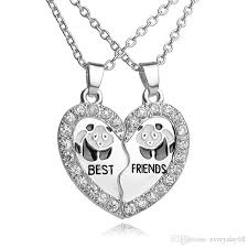 best friends friendship necklace images Wholesale best friends necklaces for broken heart silver pendant jpg