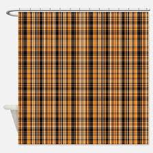 orange and black shower curtains orange and black fabric shower