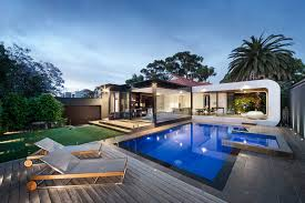 Custom Pools By Design by Heritage Home Gets A Bold Contemporary Extension