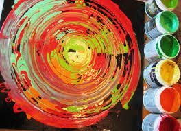 abstract art painting acrylic circle techniques colors youtube