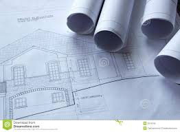 blueprints on the table stock images image 5332224