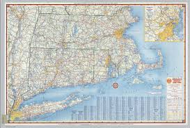 Connecticut State Map by Shell Highway Map Of Massachusetts Connecticut Rhode Island