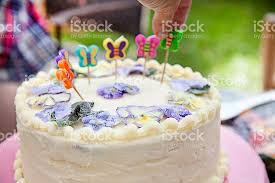 edible candles happy birthday cake with butterfly candles and real edible flowers