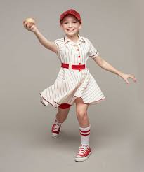 Halloween Baseball Costumes Retro Baseball Player Costume Girls Chasing Fireflies