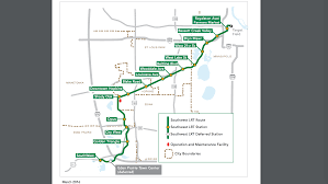 Minneapolis Light Rail Map Tour The Planned Southwest Lrt Stations From Minneapolis To Eden